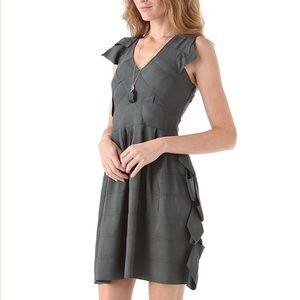 Cynthia Rowley olive ribbon dress